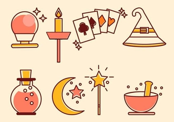 Flat Magic Vectors - vector gratuit #423435