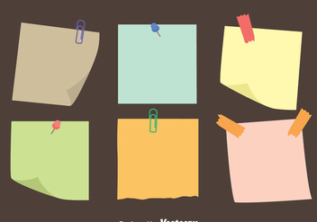 Colorful Sticky Notes Paper Vectors - бесплатный vector #423495