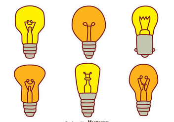 Hand Drawn Bulb Collection Vectors - vector gratuit #423515