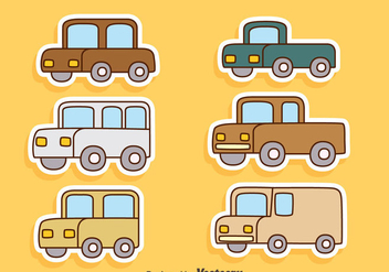 Cartoon Cars Vectors - vector gratuit #423545