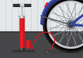 Air Pump Bicycle Vector - Free vector #423585