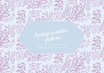 Vector Pattern of Delicate Branches - vector gratuit #423635