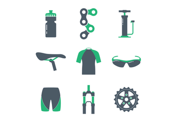 Bicycle Icon Set - Kostenloses vector #423675