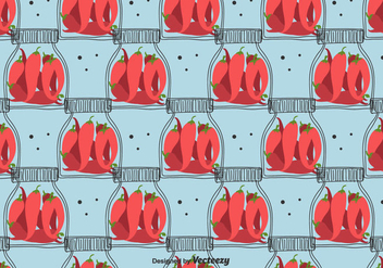 Pickled Chili Pepper Pattern - vector #423775 gratis
