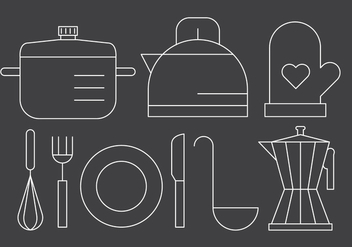 Free Linear Kitchen Utensils - Free vector #423825