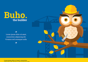 Buho Builder Character Vector - Free vector #423865