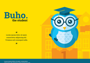 Buho Student Character Vector - Free vector #423875