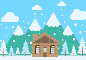Free Winter Scenery Vector - бесплатный vector #423895