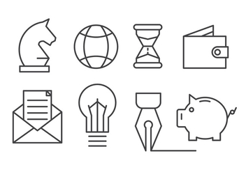 Free Set of Business and Finance Icons - vector #423965 gratis