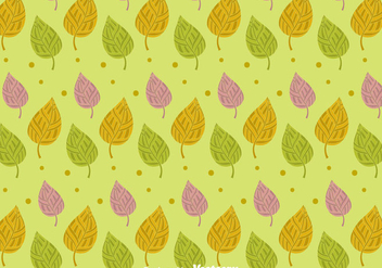 Green Leaves Pattern Background - vector #424075 gratis