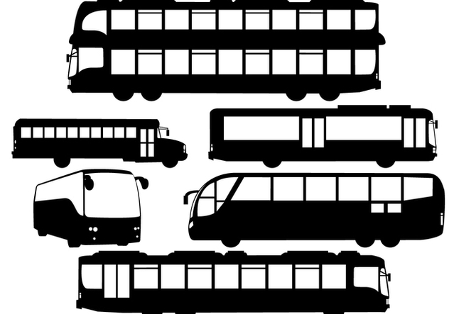 Vector Silhouette Buses - Free vector #424125