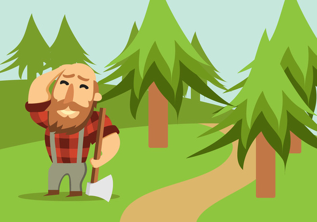 Lumberjack With Axe - Free vector #424165