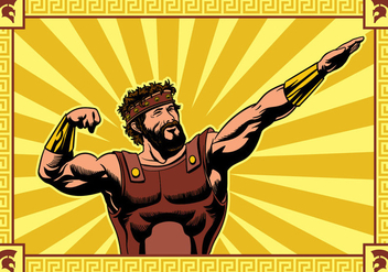 Hercules Striking a Pose Vector - vector gratuit #424205