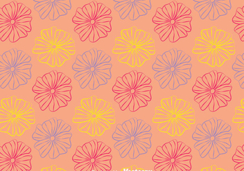 Line Petunia Flowers Pattern Background - vector gratuit #424225