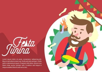 Festa Junina Background - vector gratuit #424245