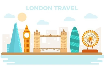 Free London Travel Vector Illustration - vector gratuit #424255