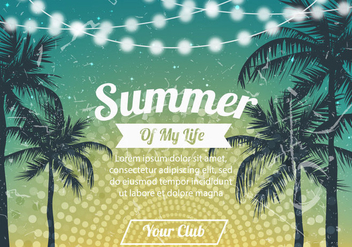 Summer Party Background - vector gratuit #424265