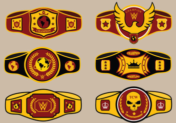 World Championship Belt Vector Pack - Free vector #424295