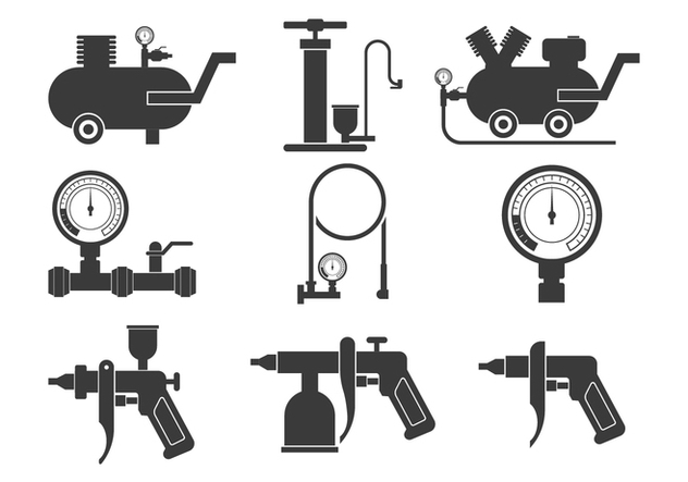 Air Pump Icons Set - Free vector #424305
