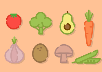 Line Art Vegetables Vector - vector gratuit #424355