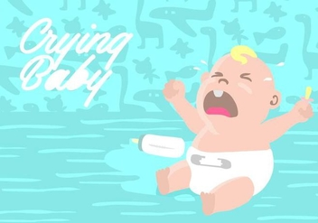Crying Baby Background - vector #424365 gratis