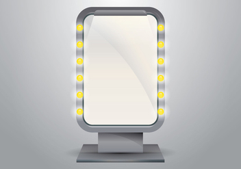 Vector Lighted Makeup Mirror for Dressing Room - бесплатный vector #424555