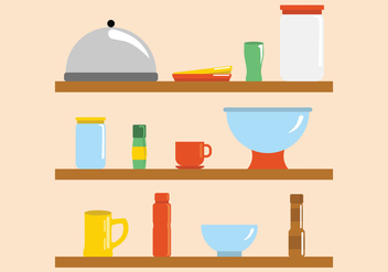 Modern Bright Kitchen Ware Vectors - Free vector #424575