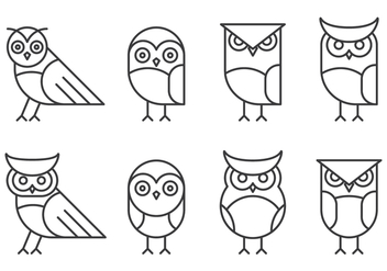 Hipster Linear Owl Logo - Free vector #424625
