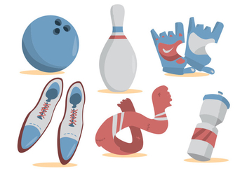 Bowling Alley Vector Set - vector gratuit #424715