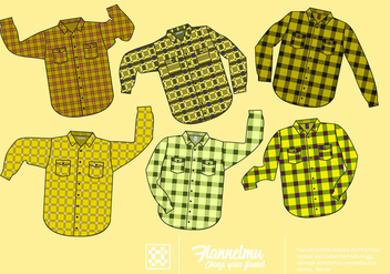 Free Yellow Flannel Shirt Vector - vector gratuit #424755