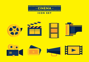 Film Canister Icon Set Vector - Kostenloses vector #424785