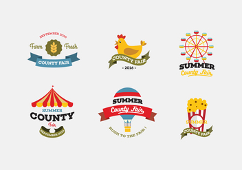 Vector County Fair Icon Set - Free vector #424845