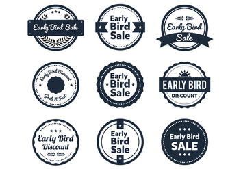Early Bird Label - vector gratuit #424855