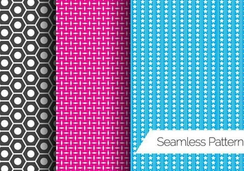 Three Seamless Pattern Vectors - vector #424865 gratis