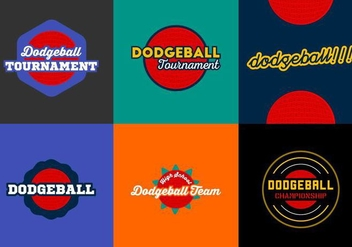 Free Dodgeball Badges Vector Pack - Free vector #424875