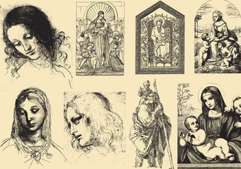 Renaissance Art And Drawings - Free vector #424895