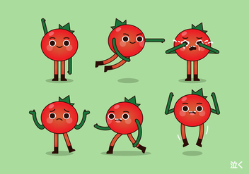 Vector Tomato and Poses - vector #424915 gratis