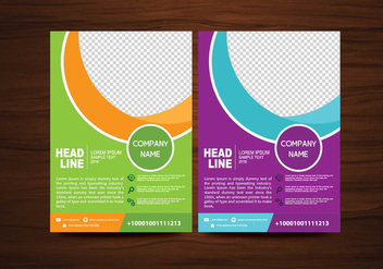 Vector Brochure Flyer design Layout template in A4 size - vector #424925 gratis
