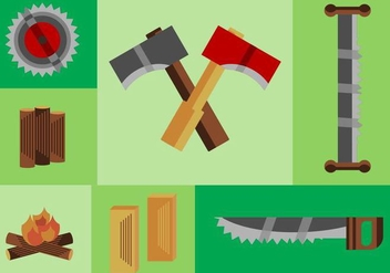 Free Wood Logs Vector Pack - Free vector #424935