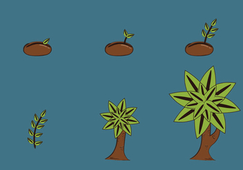 Free Plant Growth Cycle Vector Illustration - Free vector #424945