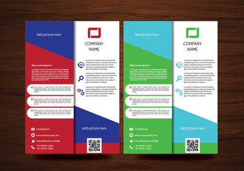 Vector Brochure Flyer design Layout template in A4 size - vector gratuit #424955