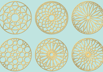 Laser Cut Circles - Free vector #424965