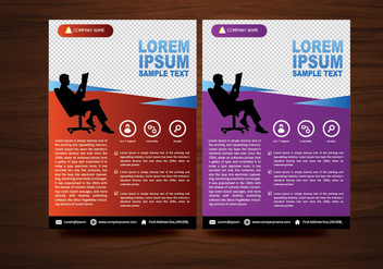Vector Brochure Flyer design Layout template in A4 size - Kostenloses vector #424975