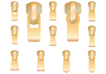 Gold Zipper Pull Vector - vector #425025 gratis