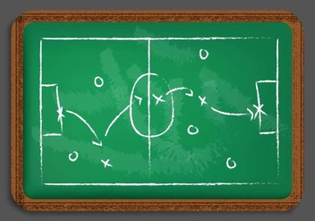 Chalkboard Playbook Vector - бесплатный vector #425095