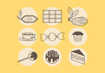 Various Chocolate Vectors - vector #425115 gratis