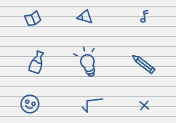 Vector School Stuff Icon - vector #425145 gratis