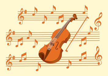 Violin Key Set - Free vector #425165