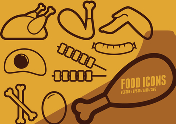 Game Day Food Icons - vector #425225 gratis