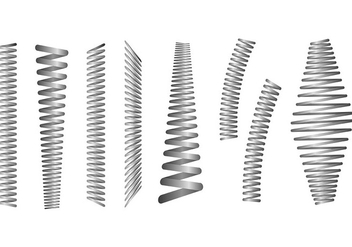 Set Of Slinky Vectors - vector gratuit #425235